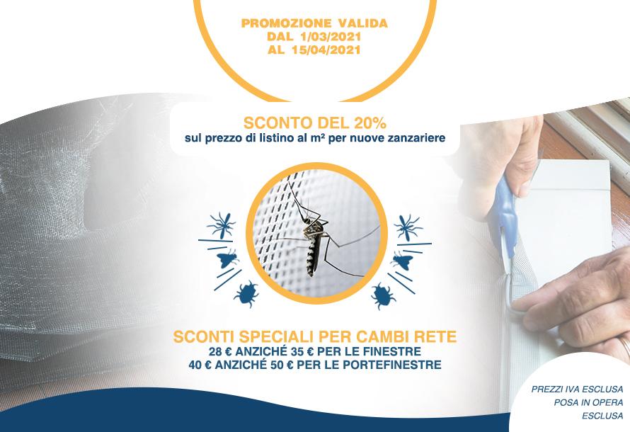 Promozione zanzariere 2021